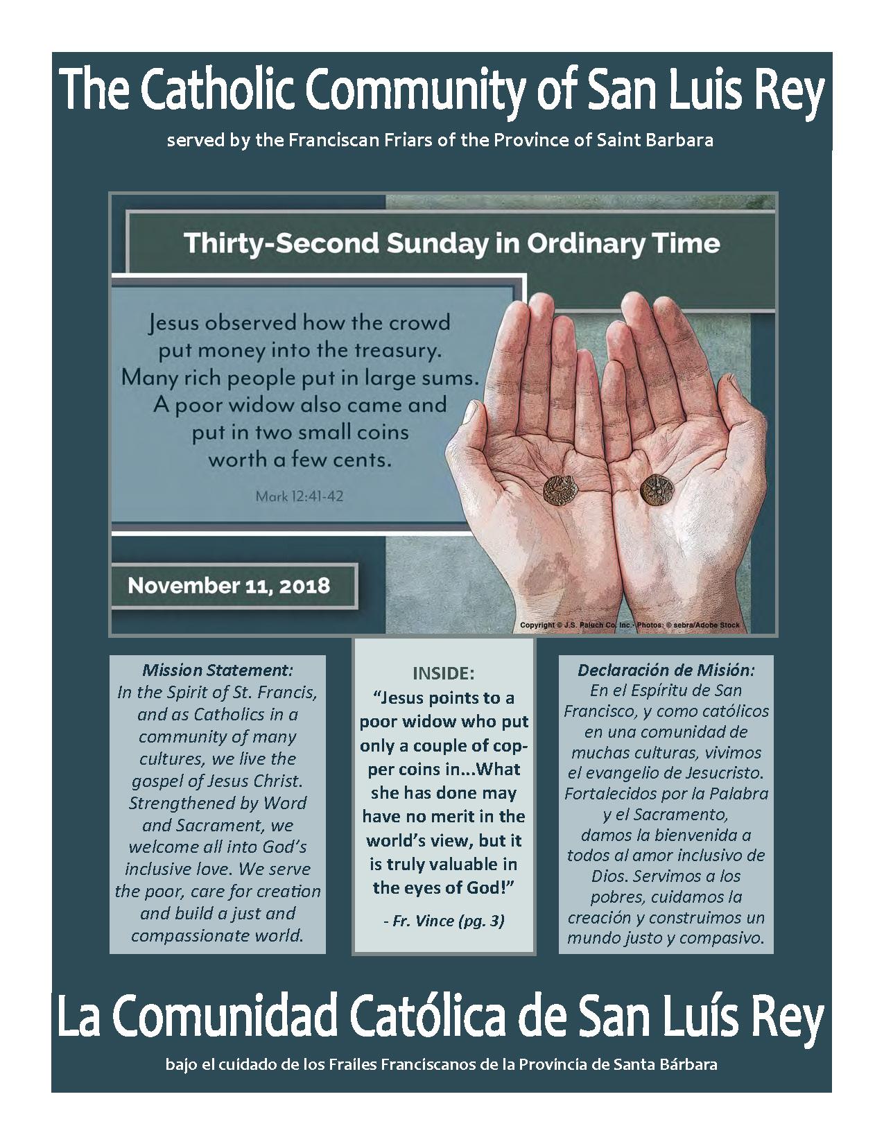 Bulletin for 11-11-2018
