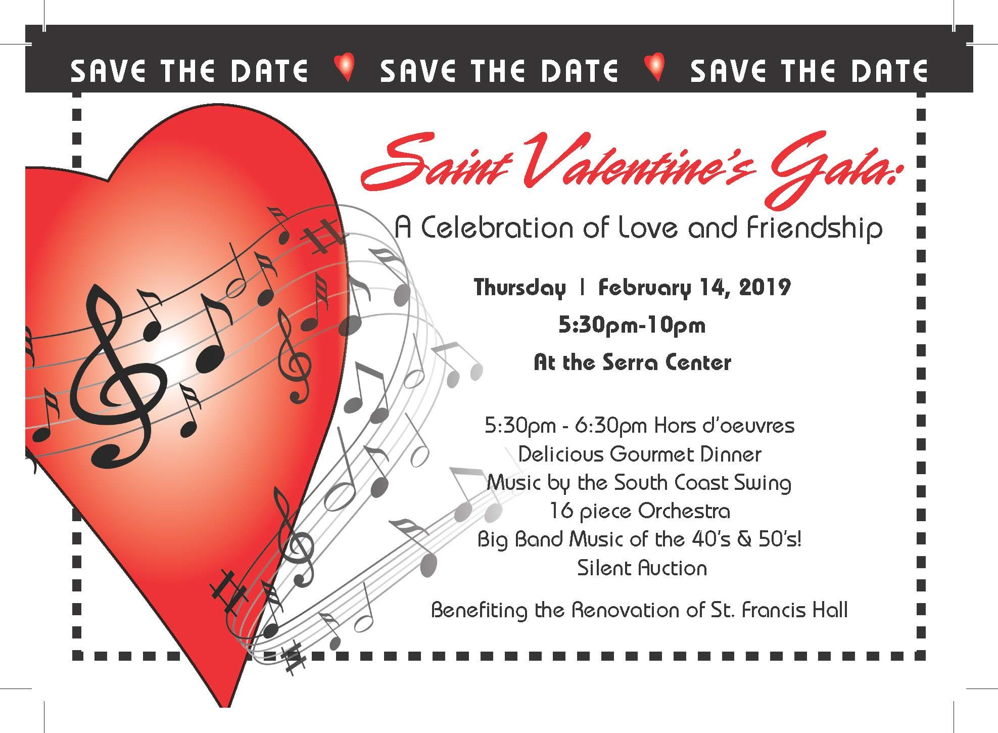 Saint Valentine's Gala Tickets On-Sale This Weekend