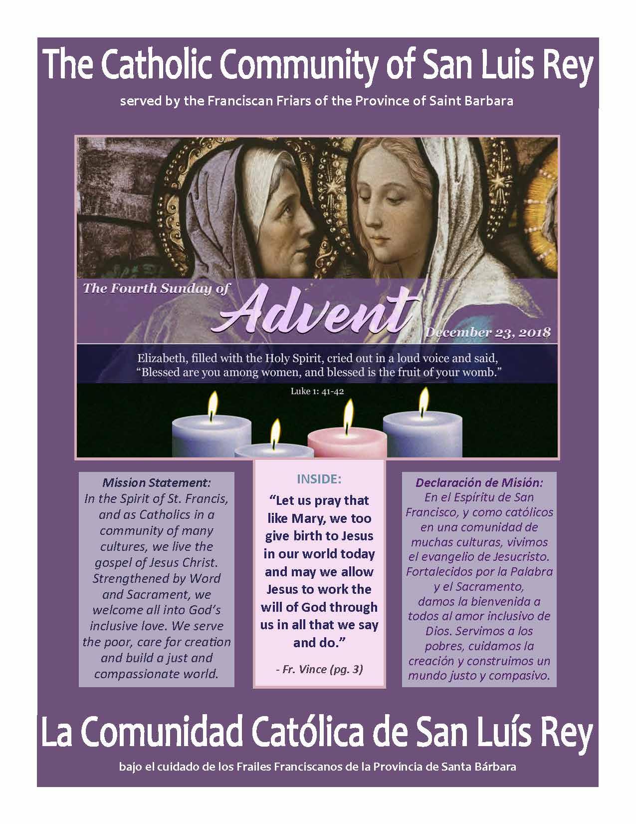 Bulletin for 12-23-2018