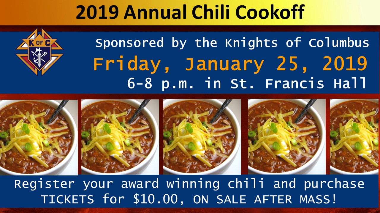 2019 Annual Chili Cookoff