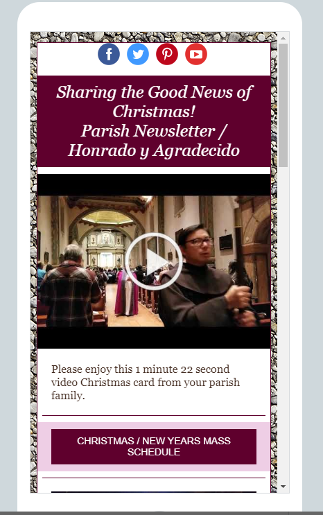 A Video Christmas Card from Your Parish Family