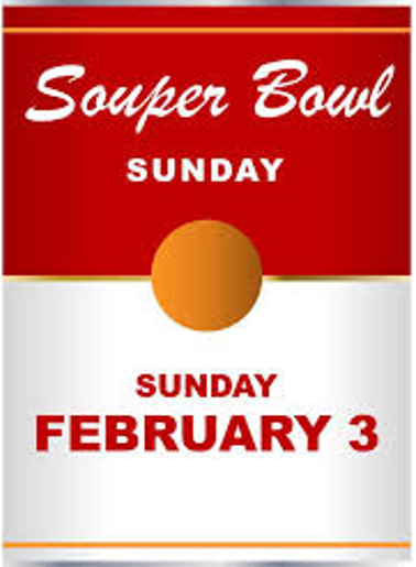 #Tackle Hunger with Souper Sunday!