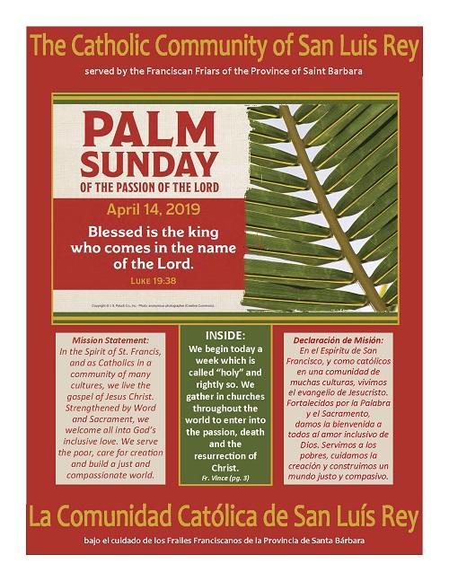 Palm Sunday 4-14-2019