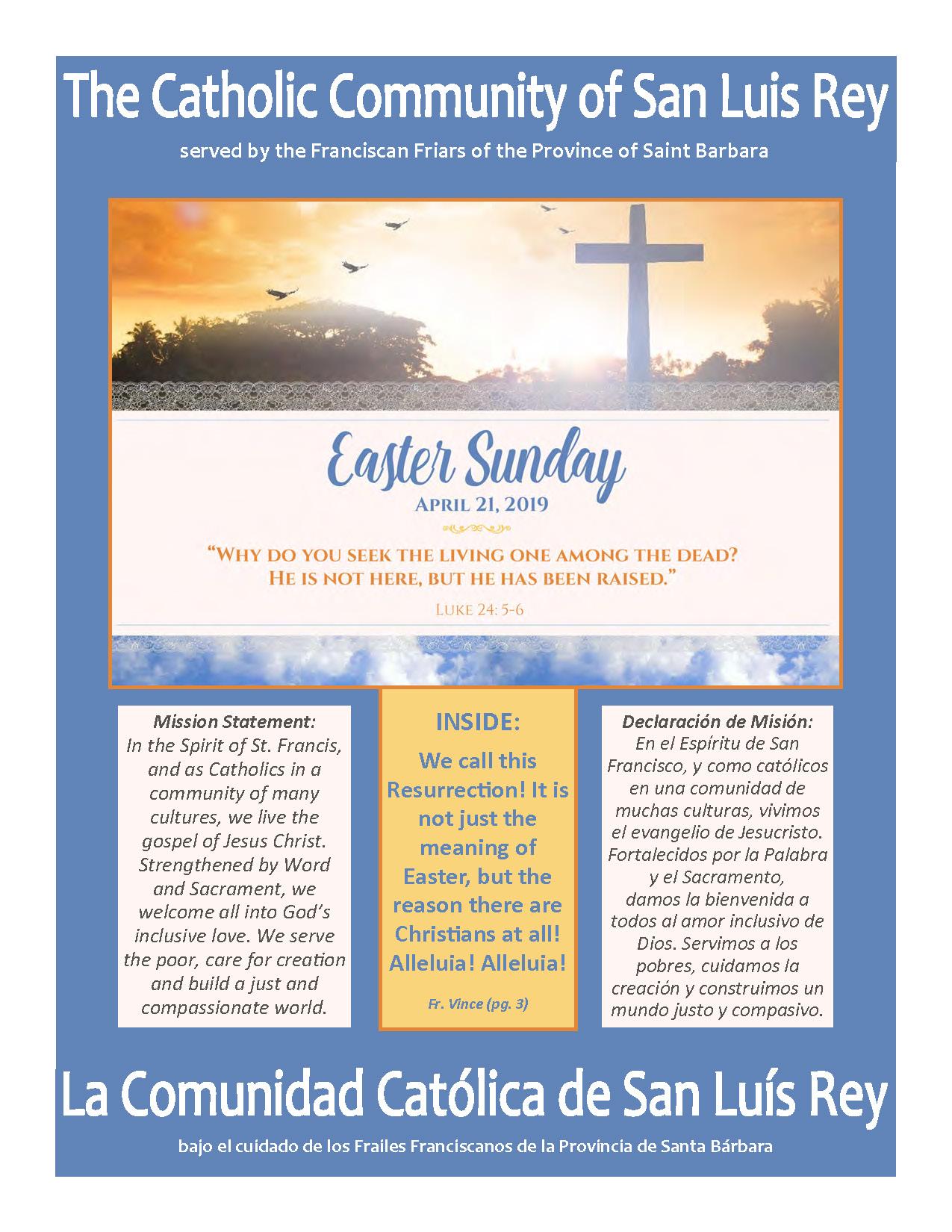 Easter Sunday Bulletin