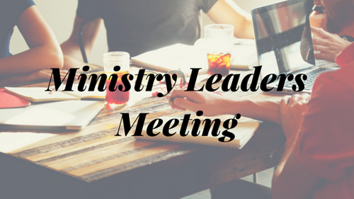 Heads of Ministry Meeting