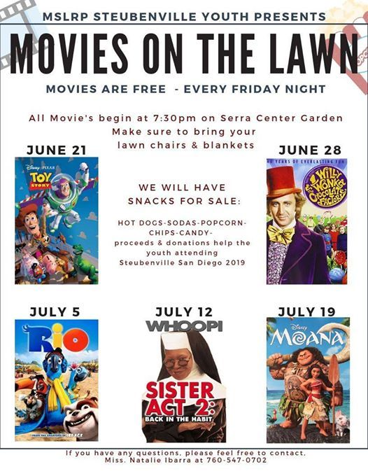 toy story movie on the lawn mission san luis rey parish mission san luis rey parish