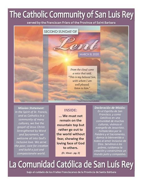 Bulletin for 3-08-2020