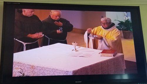 Wednesday Mass Live-streamed