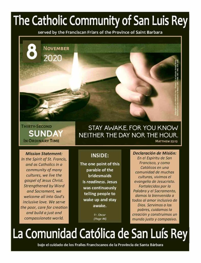 Bulletin for 11-08-2020