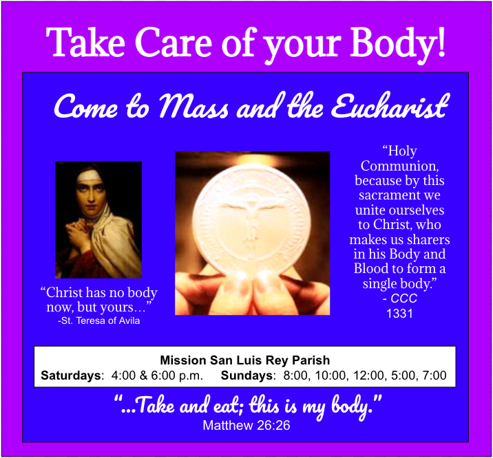 Mass & the Eucharist
